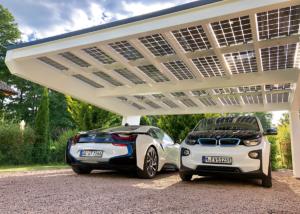 Doppel-Solarcarport